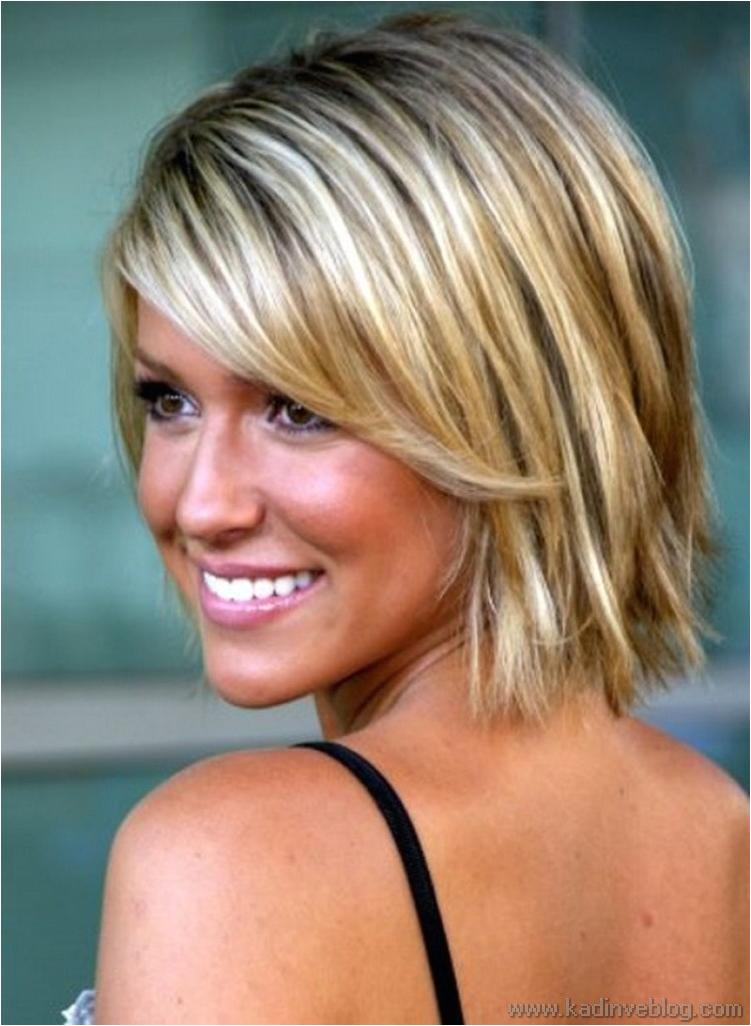 Folded short hairstyles 2019  blond