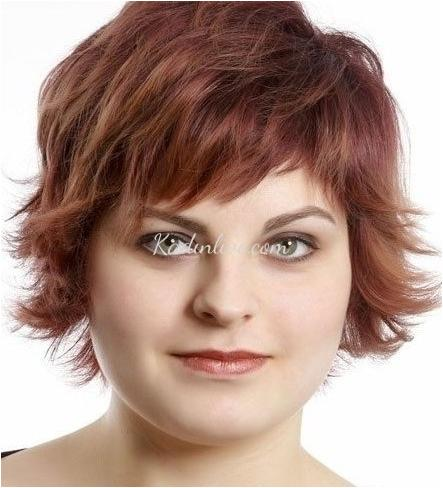Short hairstyles for ladies with round face 2019