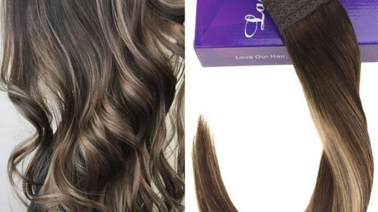 2019 trend halo hairextension for thin hair 5