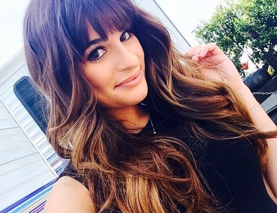 Lea Michelehairstyle ombre