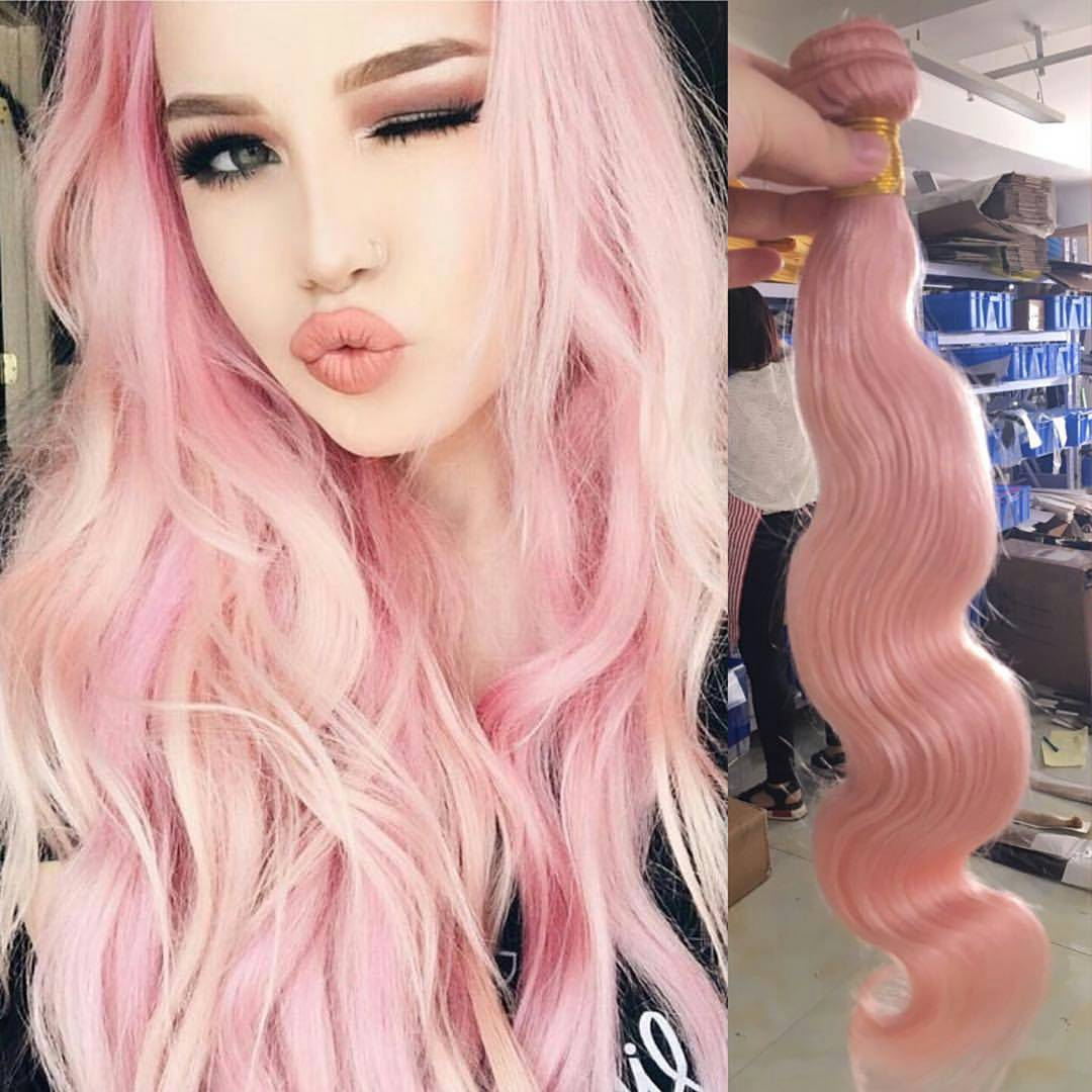 Combination ofPink and Blonde Curls 7