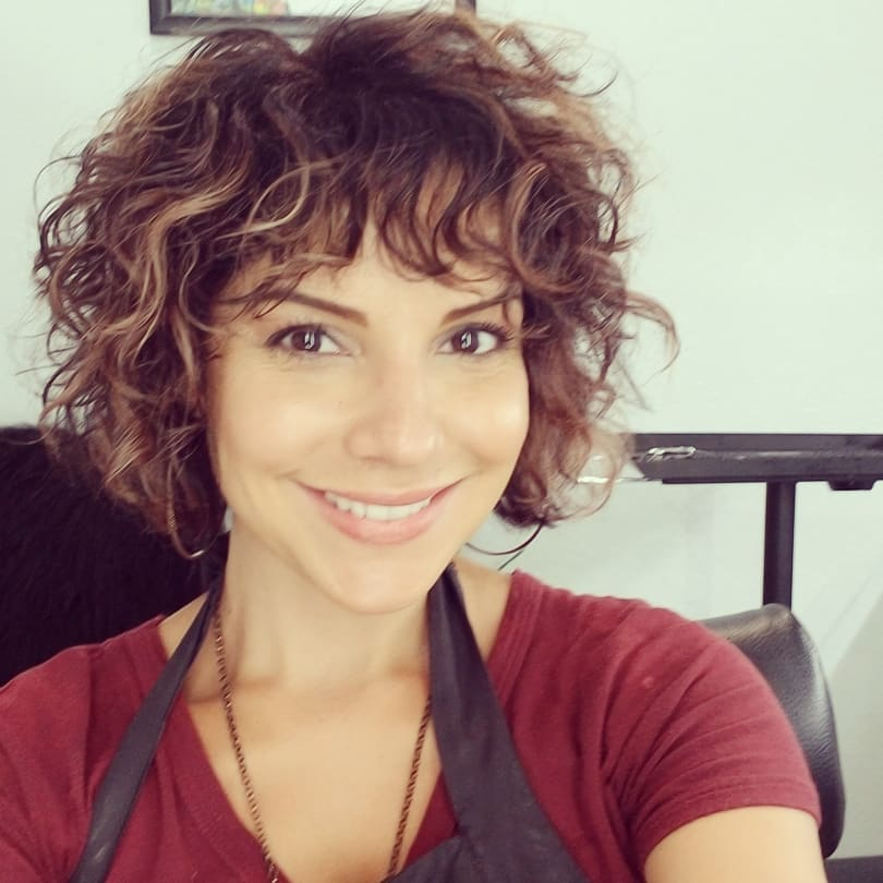 Curly Bob With Pinned Top