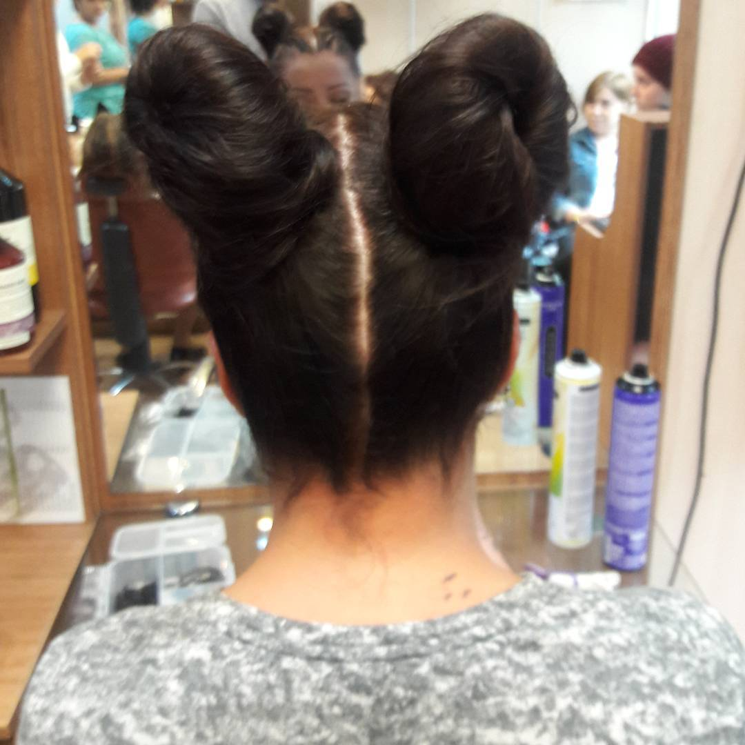 2020 Double Bun Hairstyle (9)