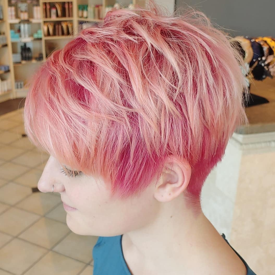 what short hairs are in 2020 -07 pink